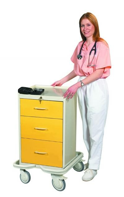 Hospital Isolation Carts (Mini 3 Drawer Tower)