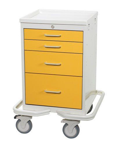Mini Medical Tower (4 Drawer) - Hospital Isolation Carts