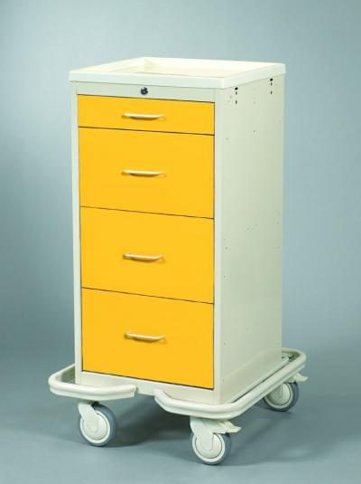Hospital Isolation Carts (Mini 4 Drawer Tower)