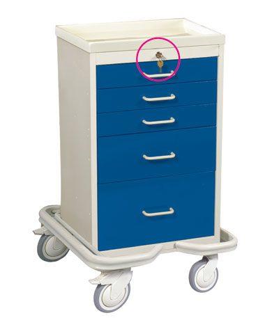 Anesthesia Carts (Mini Key Lock 5 Drawer Tower)