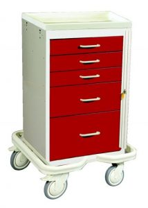 Mini Medical Tower (5 Drawer Tower w/Breakaway Lock)