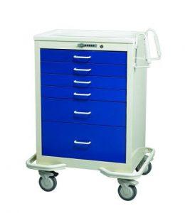 Anesthesia Carts (6 Drawer Push Button Lock MIT-627-DB)