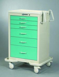 Anesthesia Carts (6 Drawer Push Button Lock MIT-630-SFG)