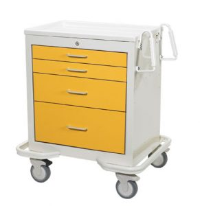 Hospital Isolation Carts (4 Drawer Cart)