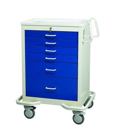 Anesthesia Carts (6 Drawer Key Lock MKT-627-DB)