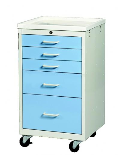 Anesthesia Carts (Mini Key Lock 5 Drawer Cart)
