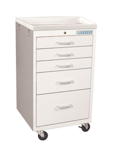 Mini Medical Carts (5 Drawer Cart w/Electronic Lock)