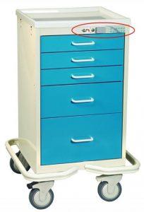 Anesthesia Carts (Mini Electronic Lock - 5 Drawer Tower MOT-524-CCB)
