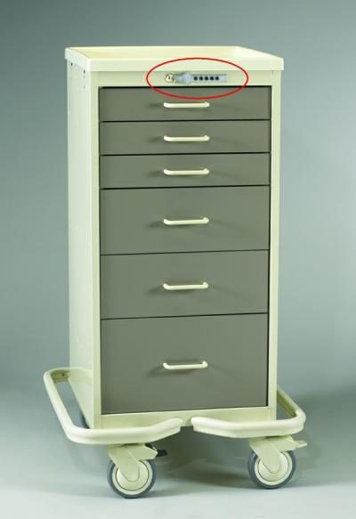 Anesthesia Carts (Mini Push Button Lock - 6 Drawer Tower)