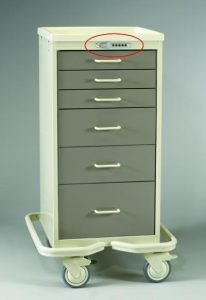 Mini Medical Tower (6 Drawer Tower w/Push Button Lock)