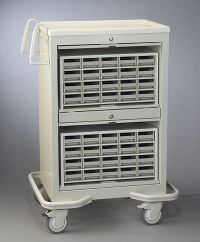 Unit Dose Medication Cart (40 Bins) - Medicine Carts