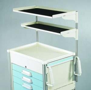 Medical Cart Accessories - Shelving - Double Shelf