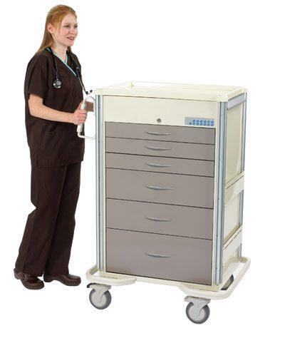 Anesthesia Carts (SELECT Electronic Lock - 6 Drawer Cart SET-630A-TP)