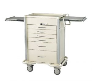 Anesthesia Carts (SELECT Push Button Lock - 6 Drawer Cart SIS-627A-B)