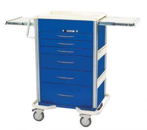 Anesthesia Carts (SELECT Push Button Lock - 6 Drawer Cart SIS-630A-DB)