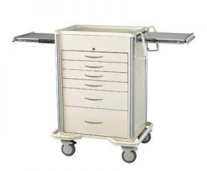 Anesthesia Carts (SELECT Key Lock - 6 Drawer Cart SKS-627A-B)