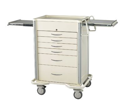 Anesthesia Carts (SELECT Key Lock - 6 Drawer Cart SKS-627A-B)