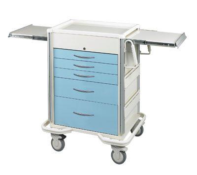 Anesthesia Carts (SELECT Key Lock - 5 Drawer Cart)