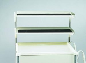 Medical Cart Accessories - Shelving - Narrow Double Shelf