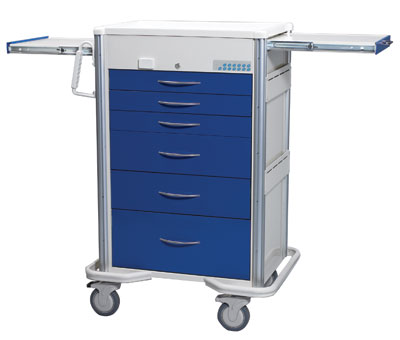 Anesthesia Carts (SELECT Electronic Lock - 6 Drawer Cart SXT-630A-DB)