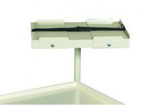 Medical Cart Accessories - Corner Defib Shelf (TCD-1)