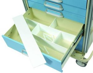"Medical Cart Accessories - Drawer Dividers - 6"" Custom Set"