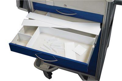 "Medical Cart Accessories - Drawer Dividers - 3"" Custom Set"