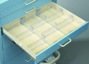 "Medical Cart Accessories - Drawer Dividers - Mini 3"" Set (TDV-3M)"