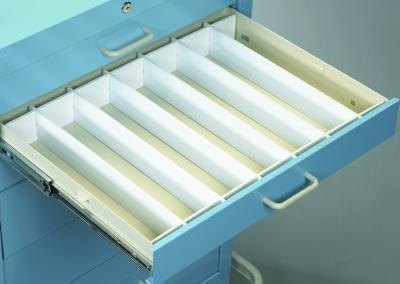 "Medical Cart Accessories - Drawer Dividers - 3"" Set (TEF-3)"