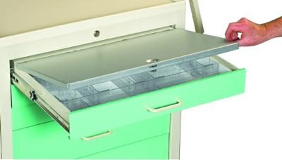 Medical Cart Accessories - Drawer Security - Narcotic Drawer Cover