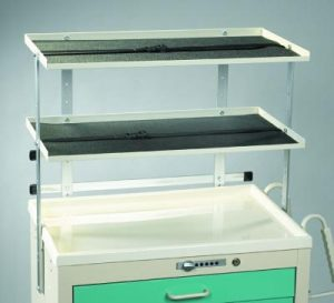 Medical Cart Accessories - Shelving - Shelf Unit Twin