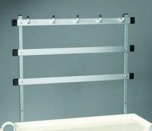 Medical Cart Accessories - Trellis System w/Hooks Wide Cart