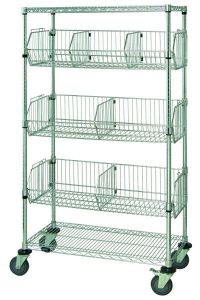 Wire Basket Mobile Cart