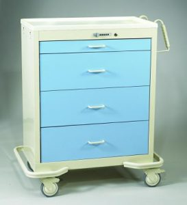 Wide Medical Carts - Push Button Lock (WIT-430A-SB)