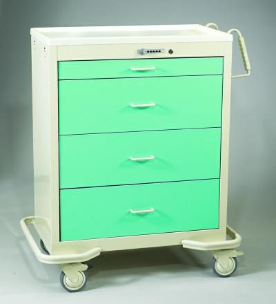 Wide Medical Carts - Push Button Lock (WIT-430A-SFG)
