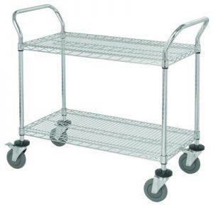 Wire Utility Cart - 2 Shelf
